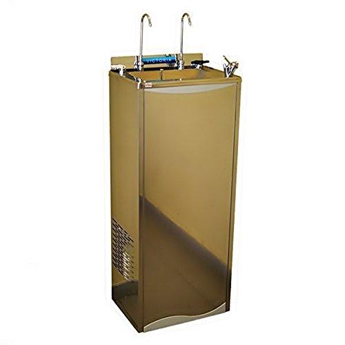 Fuente refrigeradora de agua en acero inoxidable. Con ...
