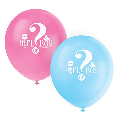 12quot Latex Gender Reveal Balloons 8ct