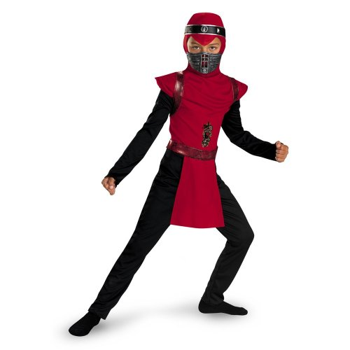Red Viper Ninja Classic - Size: Child (Furies Halloween Costume)