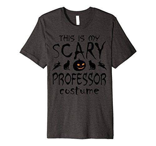 Mens THIS IS MY SCARY PROFESSOR COSTUME Halloween PREMIUM T-shirt Large Dark Heather
