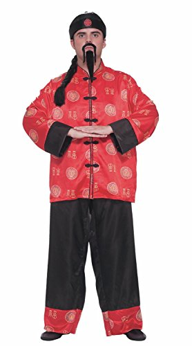 Chinese Gentleman Costume Adult Plus Size, Multicoloured,