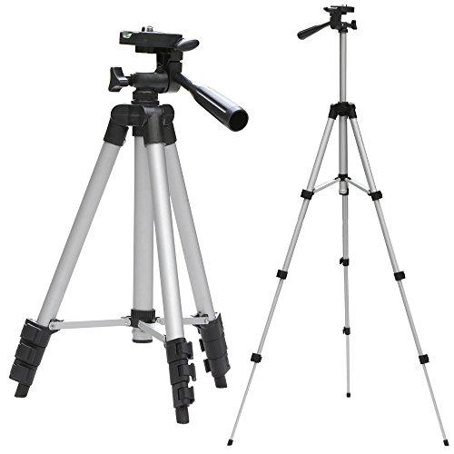 Yahee Fotostativ Kamerastativ Dreibein-Stativ Aluminium 3-Wege-Panoramakopf Foto Video 34,5 cm - 102 cm inkl. Tasche