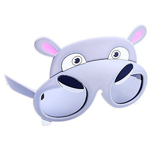 Sun-Staches Costume Sunglasses Animal Hippo Party Favors UV400 ()