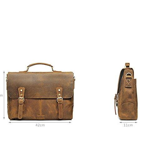 Borsa Messenger Uomo Scuola Tracolla E colore Viaggio Light Brown Lavoro Vintage In Brown Da A Crossbody Pelle Aszhdfihas Per Borse Oqxn8S4SY