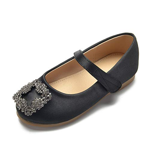 Black L New Toe Formal YC Round Shoes Buckle Party Children's Women Wedding Platform Closed rAOpqwfrRW