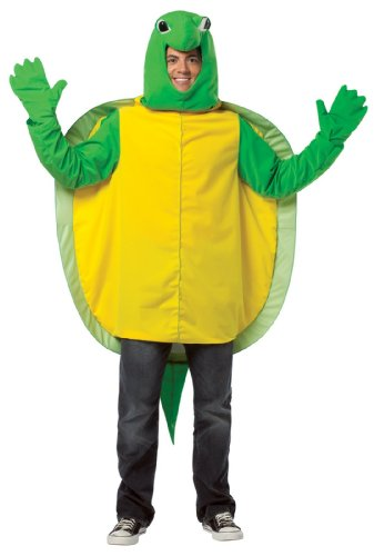 Rasta Imposta Turtle Costume, Green, One Size (Adult Simple Halloween Costumes)