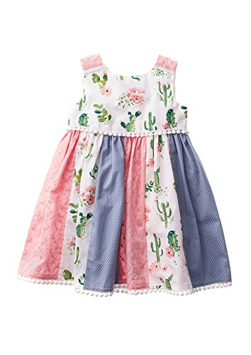 Blueberi Boulevard Cotton Sundress - Blueberi Boulevard Baby Girls Patchwork Sundress, Multi (24 Months)