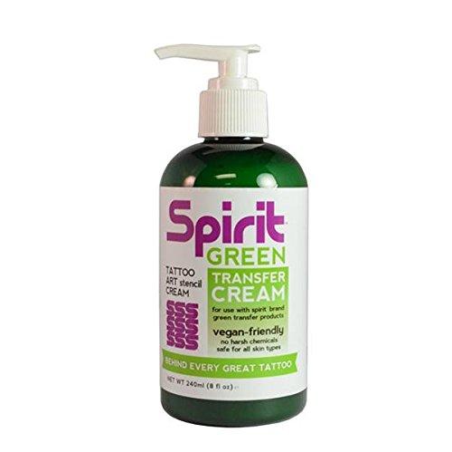 Spirit Green Stencil Transfer Cream for Green Tattoo Stencil - 8oz. Pump Bottle