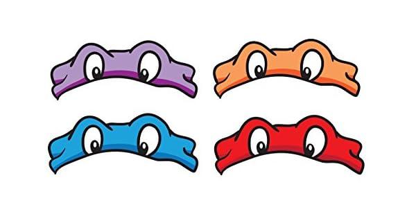 Amazon.com: 8 Reproducido TMNT Máscaras, ojos, alrededor de ...