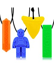Chew necklaces for sensory kids,Pendant Chewable Jewelry Set for Boys and Girls,Silicone chewlery Oral Motor Sticks for Kids with ADHD, Teething, Autism, Biting Needs