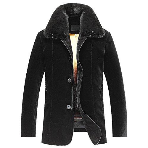 Men's Mink Fur Coat Imported Silk Velvet Shell is Smooth