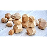 Tumi Ishi 20 Wood balancing blocks for kids from 4 years old Wood balancing toys Wooden balancing game Educational toys for children Construction game Building toy Wooden toys Eco gift Motoric game