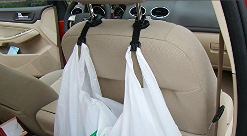 Fabal 2PCS Plastic Auto Car Truck Suv Shopping Bag Holder Seat Hook Hanger (Black) by Fabal (Image #5)