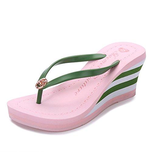 love Chanclas Playa Plataforma Puro Chanclas beauty de Diapositivas Angel de de Sandalias cuña de de de Zapatillas tacón Color Pink Mujer gEnqIxdw