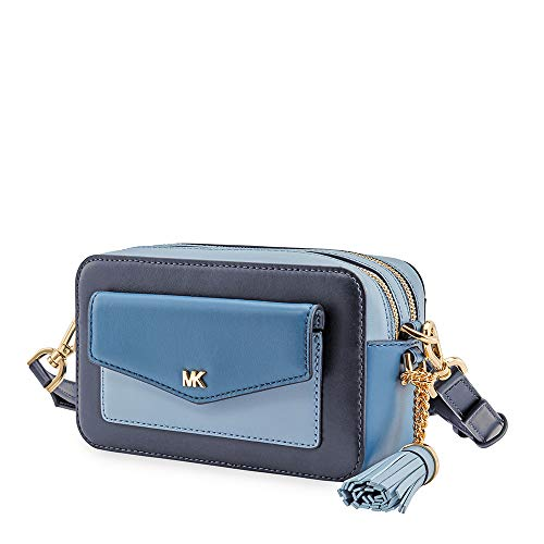 Michael Kors light blue purse | Michael Kors Small Tri-Color Leather Camera Bag- Admiral/Multi
