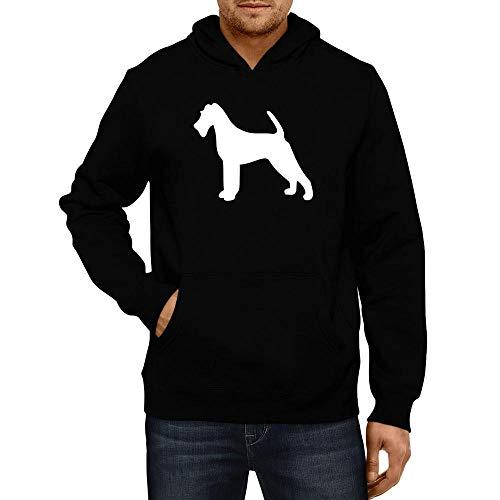 - Idakoos Irish Terrier Silhouette Hoodie L Black