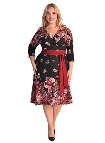 IGIGI Women's Plus Size Donna Dress in Fall Floral Print 22/24