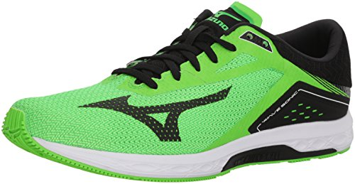 Mizuno Men's Wave Sonic Running Shoes, neon Green/Black, 10.5 D US