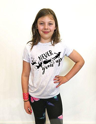 Never Grow Up Kids T Shirt. Youth Shirt. Super Soft Shirt. Girls And Boys Shirts Age 4-14. Triblend Soft Shirt For Disney Trip Shirt.