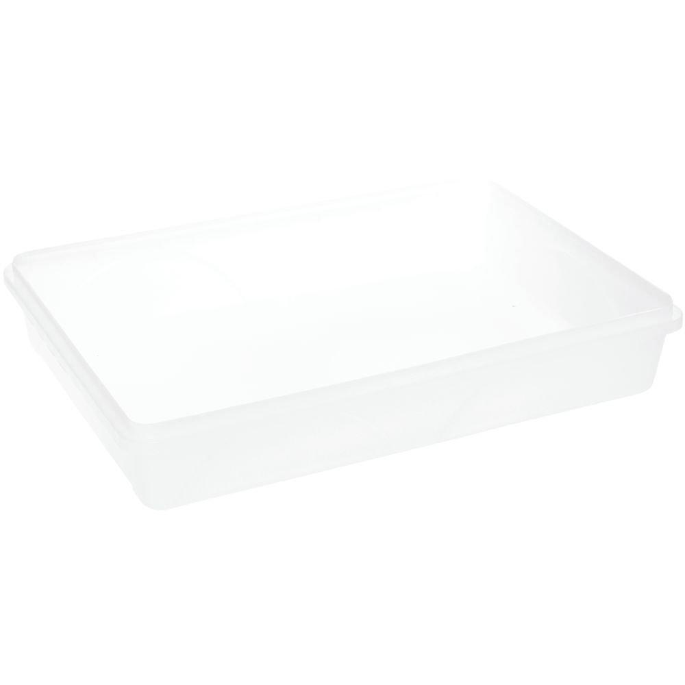 Food Storage Container Translucent 1.6 Gallon Plastic - 15 3/4