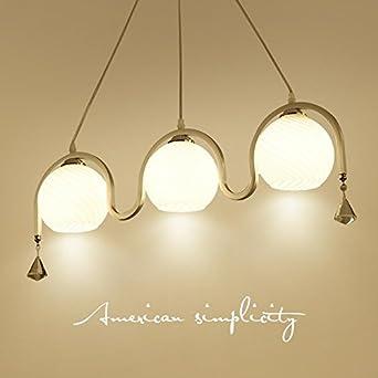 AllureFeng Simple moderno tres llevó lámpara de araña ...