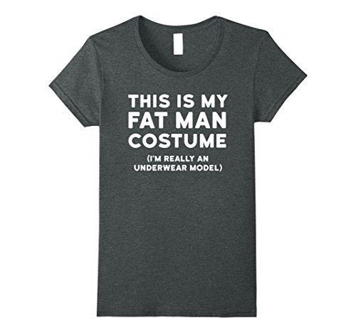 Womens Funny Halloween Costume Shirt - Fat Man