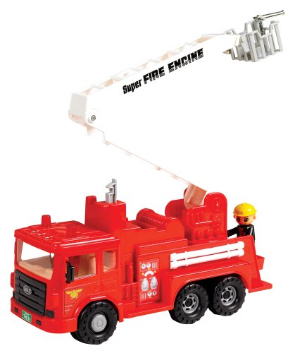 Small World Toys Vehicles - Fire Engine - Friction Powered - Friction Fire Engine