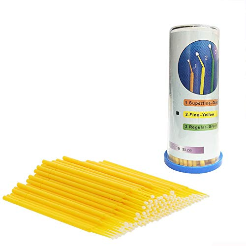 - Holoras Disposable Micro Brush Applicators Paint Touch Up Brushes for Auto Car Detailing, Makeup and Personal Care Yellow 3 mm Tips 100 PCS