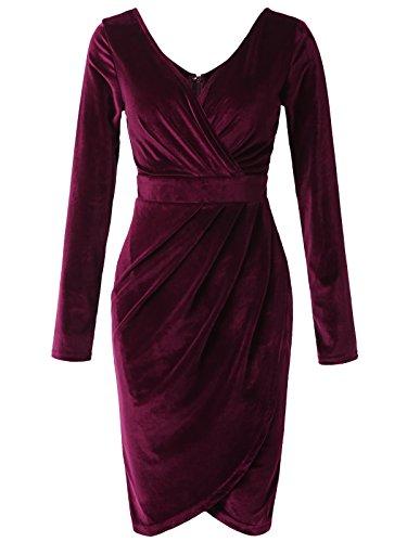 Velvet Long Sleeve Dress - 1