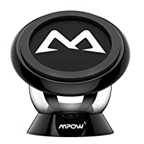 Supporto Magnetico Auto Smartphone Mpow Supporto Auto Smartphone 360° Girevole per Cruscotto Dashboard, Porta Cellulare da Auto per iPhone, Samsung, ed altri Smartphone Lumia LG Huawei Motorola Xiaomi