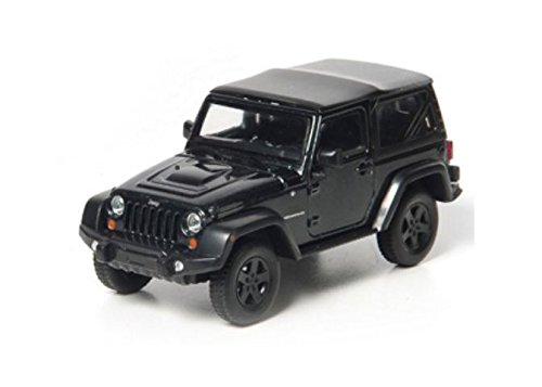 GreenLight 1:43 2012 Jeep Wrangler Rubicon, Black with Mopar Accessories from Greenlight