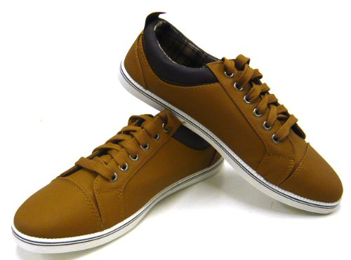 Sportliche Herren Schuhe Freizeit Sneaker Skater Schuhe Camel