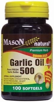 Mason Natural Garlic Oil 500mg Odorless Softgel