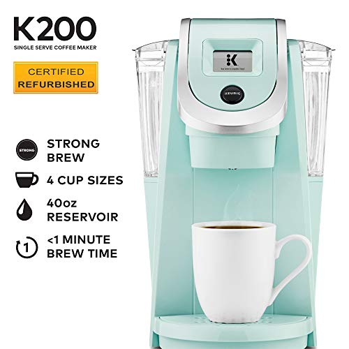 Keurig K200 Coffee Maker, One Size, Oasis (Renewed)