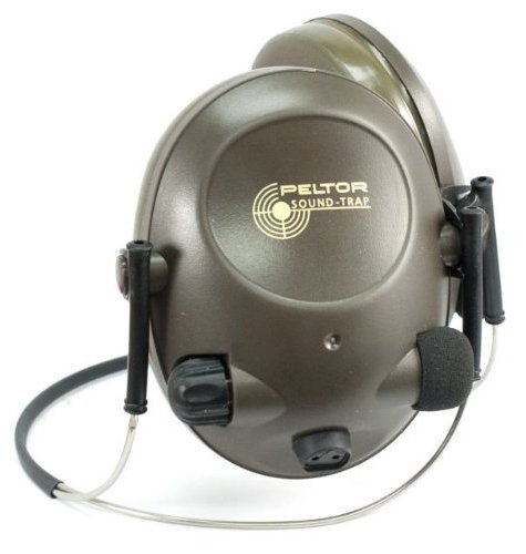 3M Peltor Slimline MT15H67BB Electronic Headset Neckband Style, Green, Hearing Protection, Ear Protection, NRR 17 dB, Great for hunters and shooters
