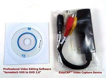 Amazon com: EasyCAP USB 2 0 Video Capture Device with Audio