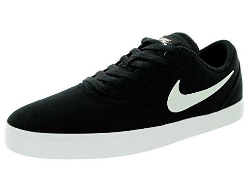 Nike SB CHECK Canvas Herren Skateboardschuhe Schwarz-Weiss