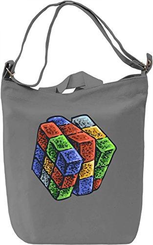 Rubik cube Borsa Giornaliera Canvas Canvas Day Bag  100% Premium Cotton Canvas  DTG Printing 