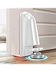 Portable Door Jammer for Travel Security, Door Stopper Security Device Lockdown, Aluminum Alloy Anti-Slip Door Locks for Women Safety Self Defense, Apartment Personal Protection for Homeowner (White)