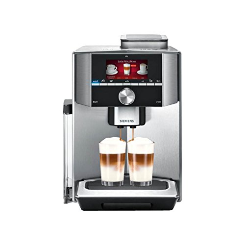 Siemens EQ.9 TI905201RW Super Fully Automatic Espresso Machine, Coffee Capuccino Latte Maker, OneTouch DoubleCup System, Silver
