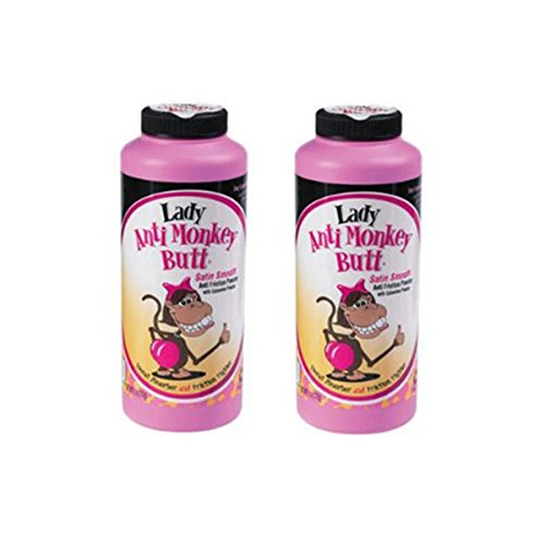 Anti-Monkey Butt Powder Lady 6 oz. Bottle of Calamine Powder, 2-Pack by Anti Monkey Butt