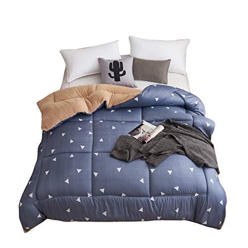 KFZ Sherpa Flaneece Blanket Berber Throw Fleece Comforter HDD1808 Twin Quilt 60