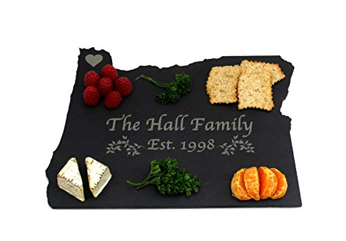 Custom Oregon Slate Cutting Board, Serving Tray, or Cheese Board- Personalized with Laser Engraving