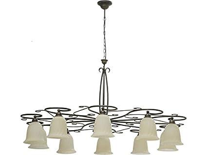 deckenleuchte rustikal mediterran Ø120cm für großflächige ... - Wohnzimmer Deckenlampen Rustikal