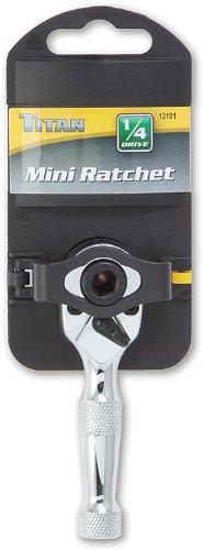 Titan Tools 12101 1//4 Drive 3 Mini Ratchet