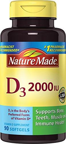 Nature Made Vitamin D3 2000 IU Softgels 90 Ct