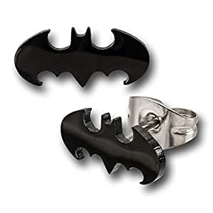 DC Comics Batman Symbol 316L Surgical Steel Stud Earrings [Jewelry]