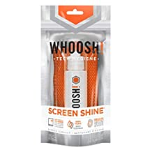 WHOOSH! Award-Wining Screen Cleaning – Safe for all screens – Smartphones, iPads, Eyeglasses, Kindle, Touchscreen, LED, LCD & TVs – Includes 1 unit of 30ml + AntiMicrobial Cloth