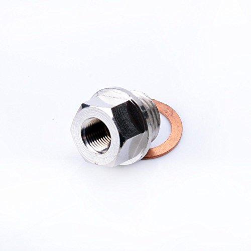 [Turbocharger Sensor Adapter Oil Water Boost Temp M16 x 1.5mm To 1/8 NPT] (Oil Temp Sensor Adapter)