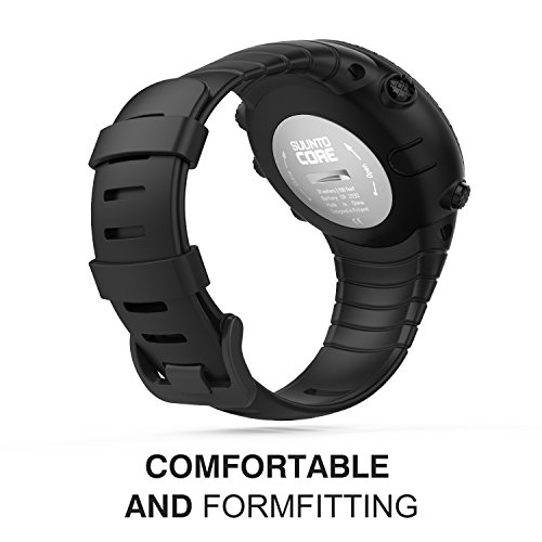 "Suunto Core Watch Band, MoKo Classic Replacement Soft Wrist Band Strap with Metal Clasp for Suunto Core Smart Watch, Fits 5.51"" 9.06"" (140mm 230mm) Wrist."